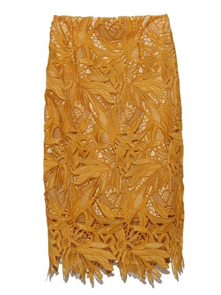 高雅花紋蕾絲窄裙