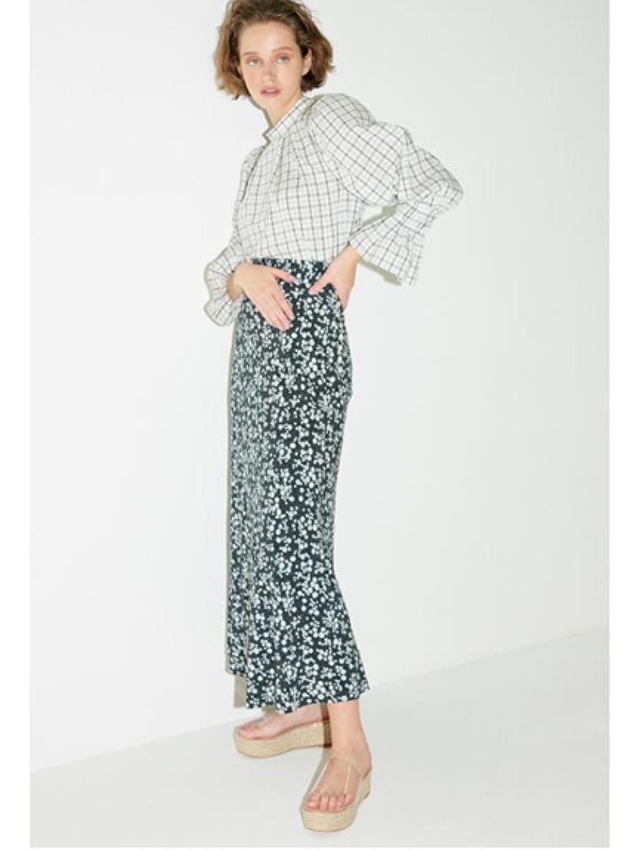 窄身印花長裙