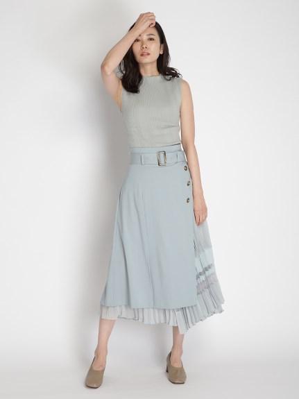 百褶拼接風衣裙