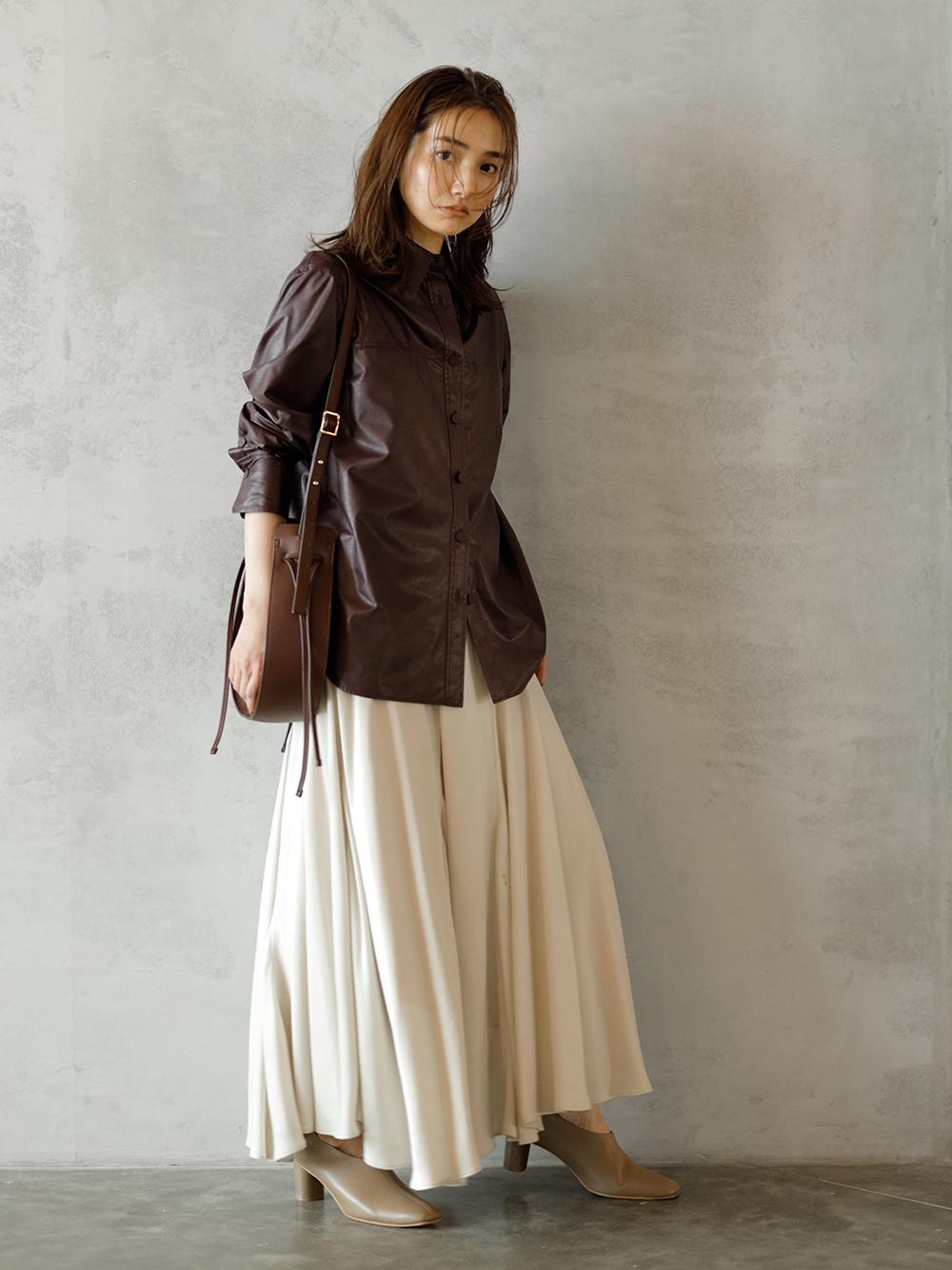 Fibril緞面長裙