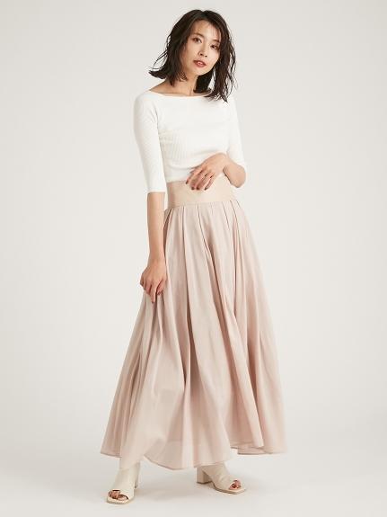歐根紗絲棉及踝長裙