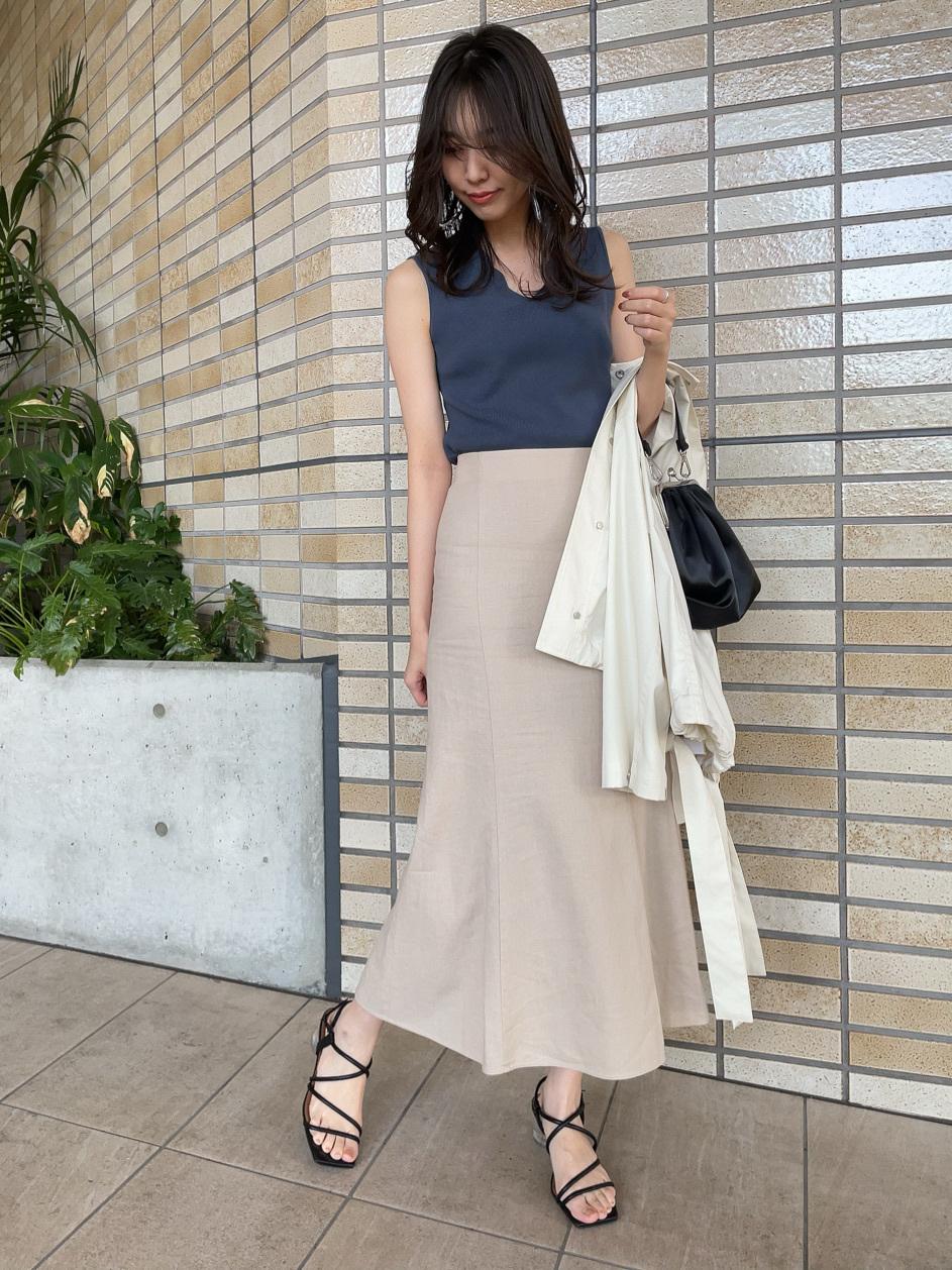 嫘縈亞麻魚尾裙