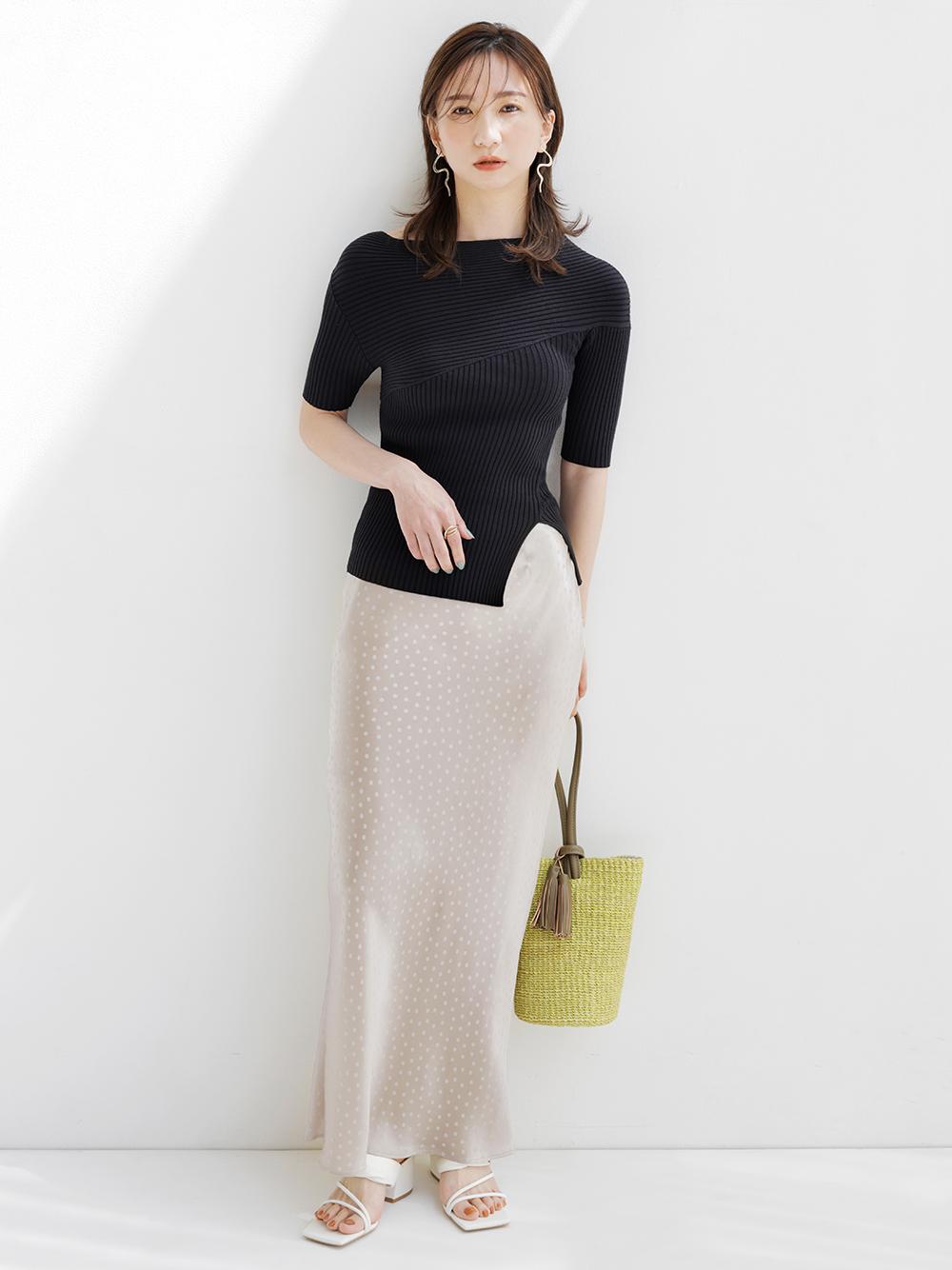 緞澤長窄裙