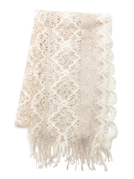 素雅蕾絲造型圍巾