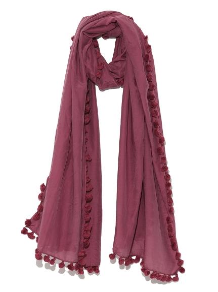 素雅棉球造型絲巾