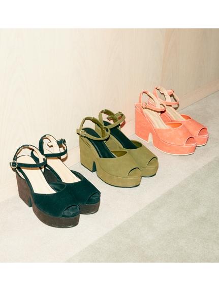 露趾厚底涼鞋