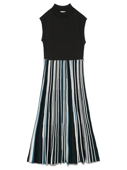 條紋針織連身裙