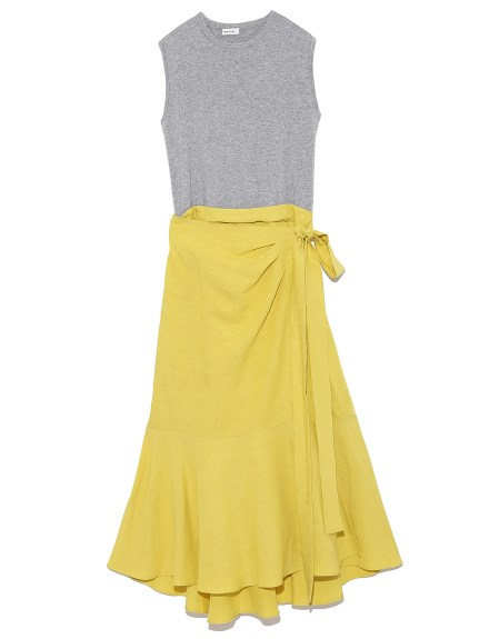 拼接魚尾裙設計洋裝