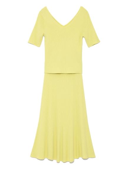 V領針織衣裙兩件組
