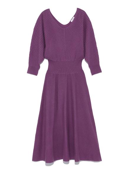針織縮腰羅紋洋裝