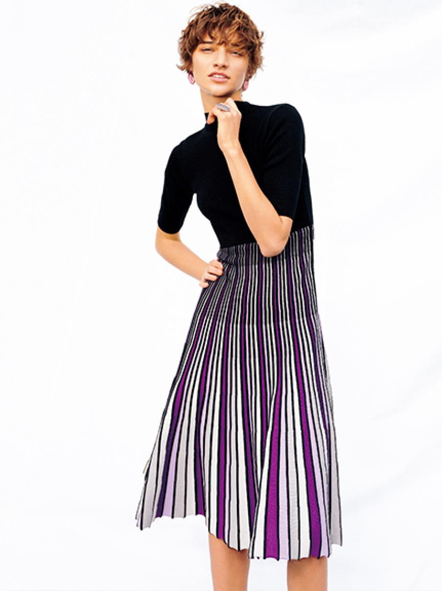 百摺裙針織洋裝