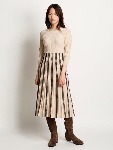 立體織紋針織洋裝