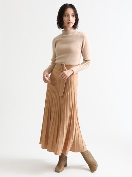 喀什米爾羊毛拼色連身裙