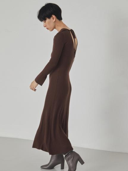 馬甲腰身羅紋針織連身裙