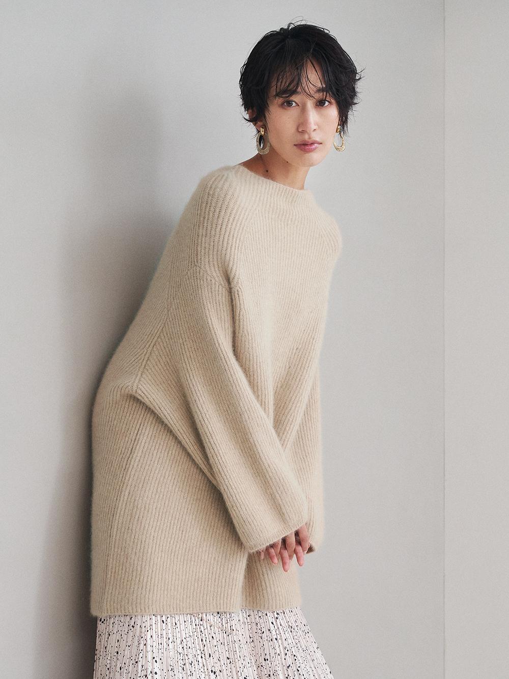 毛絨寬鬆長版毛衣