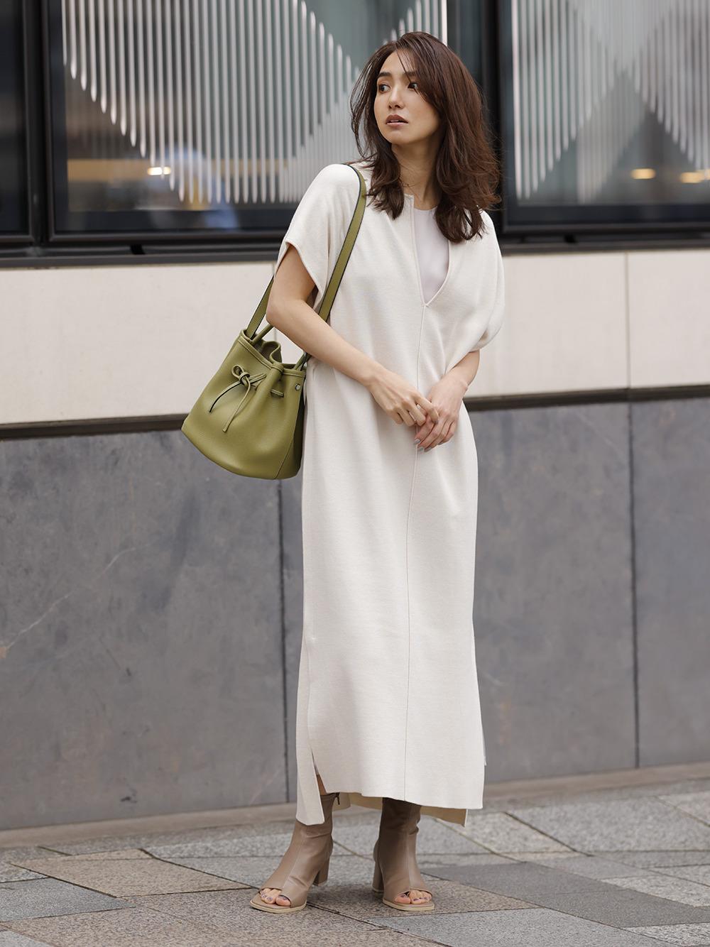 雙層卡夫坦長袍連身裙