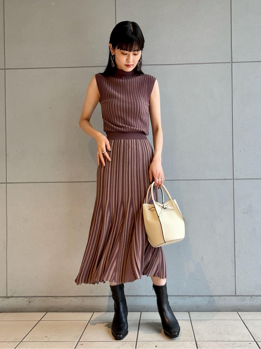 針織魚尾線條連身裙