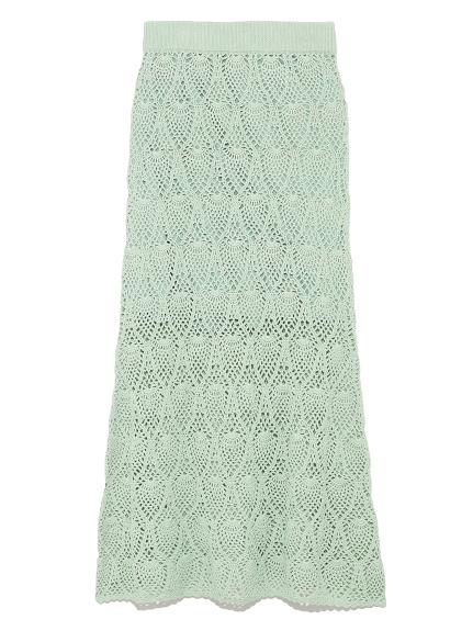 鉤花造型長裙