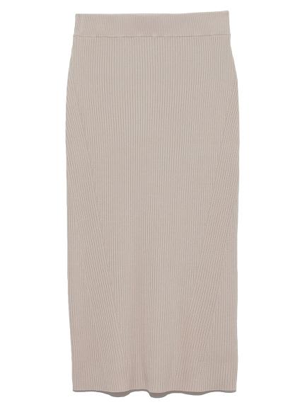 緊身羅紋針織裙