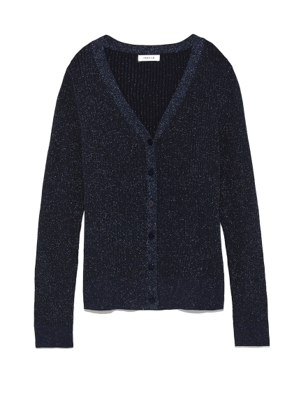 金蔥高領機能開襟外套