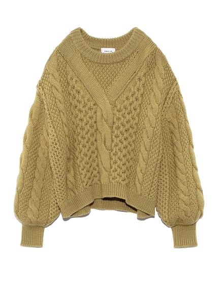 寬袖編織毛衣