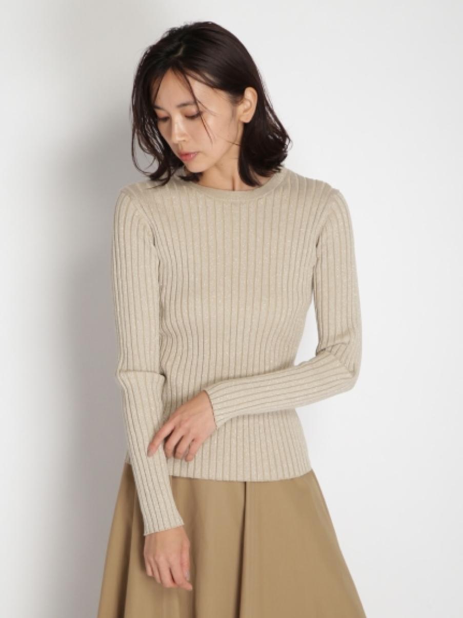 金蔥混紡織紋上衣