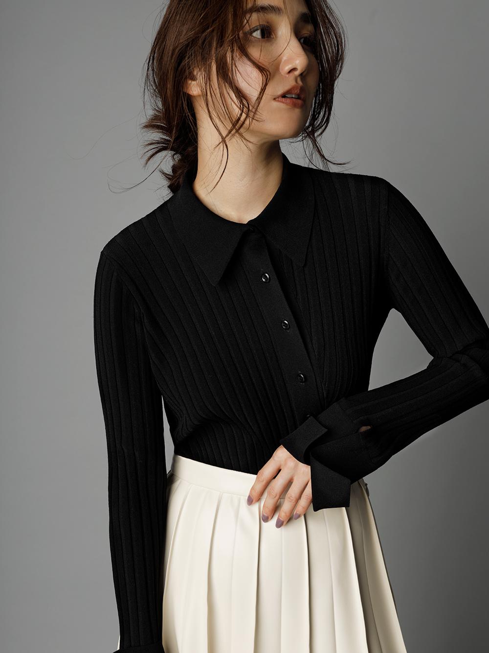 不對稱剪裁針織開襟衫