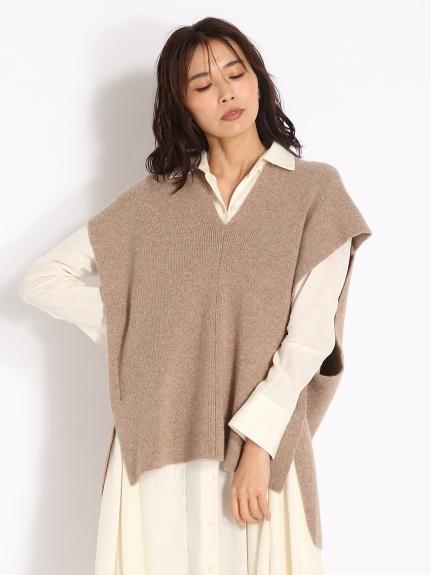羔羊毛針織背心