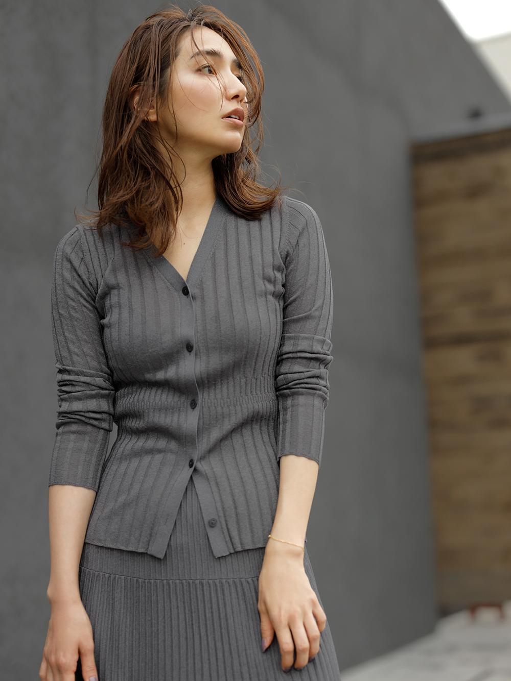 柔軟金蔥針織開襟衫