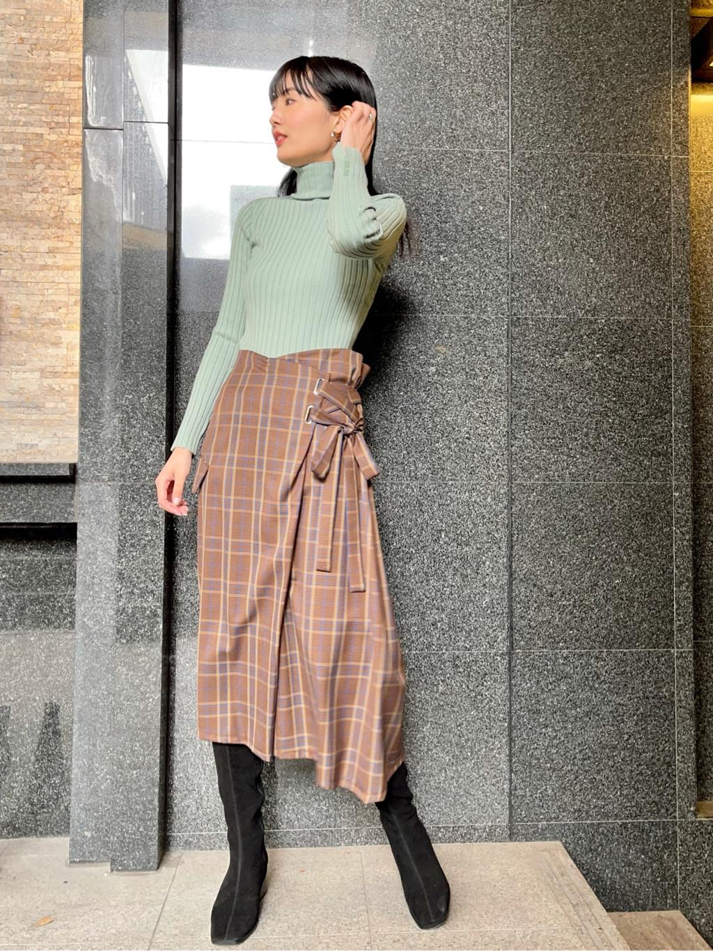 羊毛絲絹羅紋高領上衣