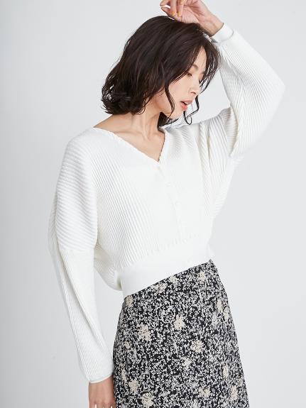 波浪羅紋針織外套