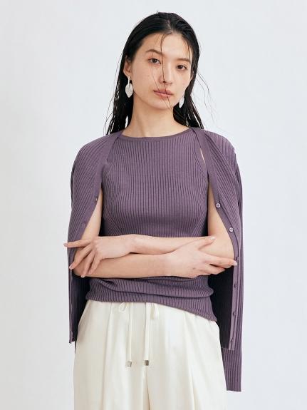 羅紋V領開襟衫