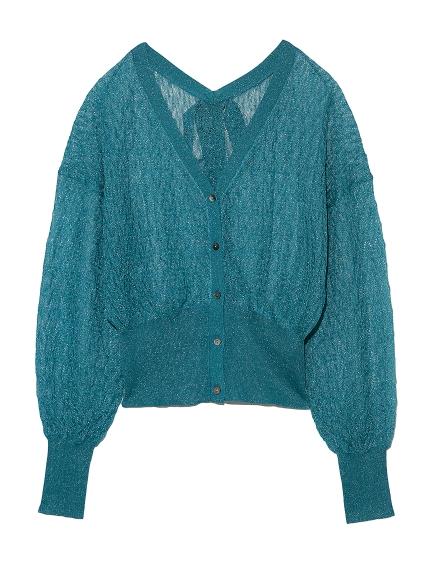蕾絲編織針織外套
