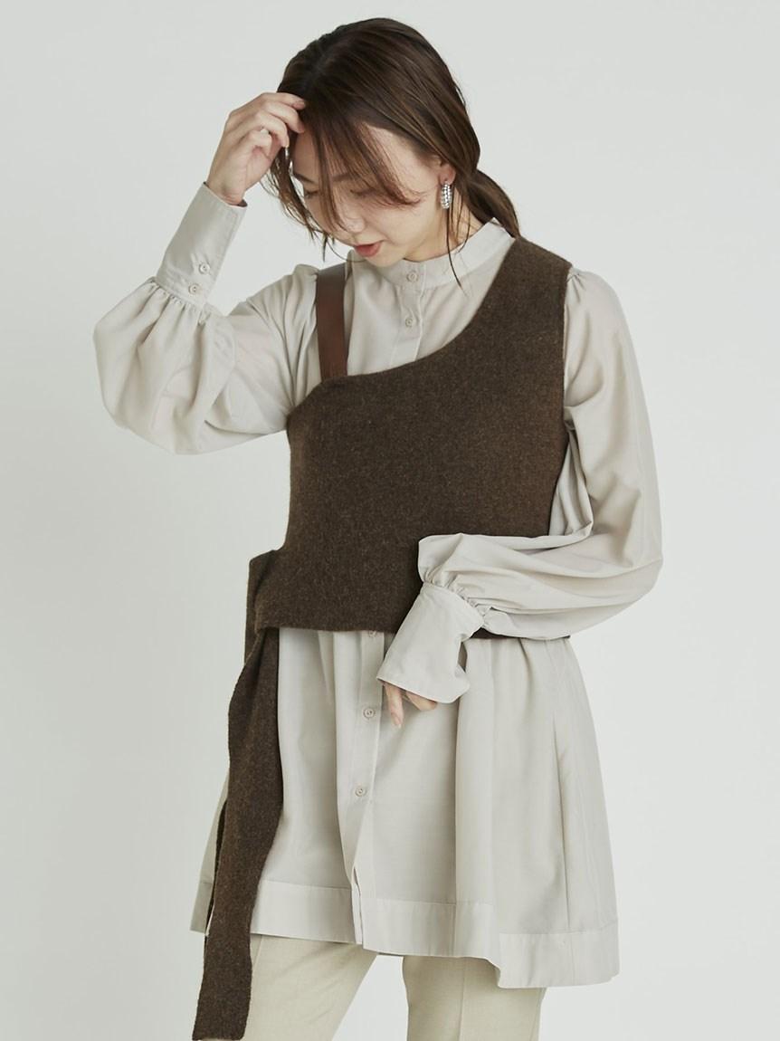 設計感針織背心層次上衣
