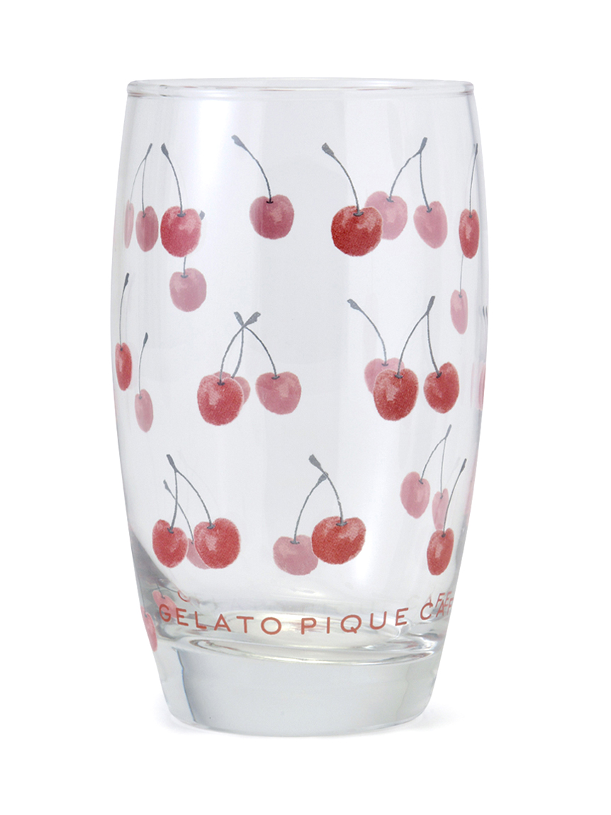 櫻桃印花 玻璃杯