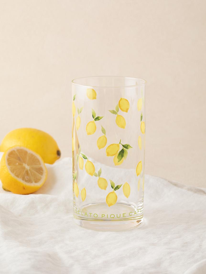 檸檬圖案玻璃杯