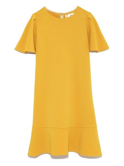 純色魚尾剪裁洋裝