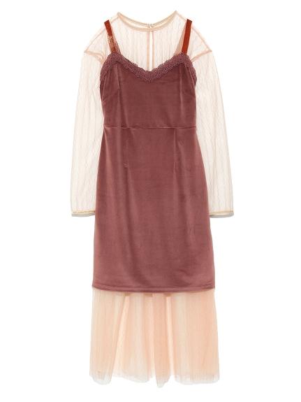 薄紗連身裙層次組合