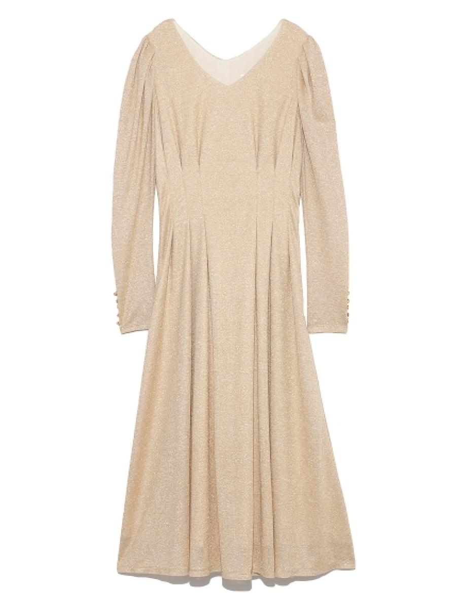 亮蔥剪裁洋裝