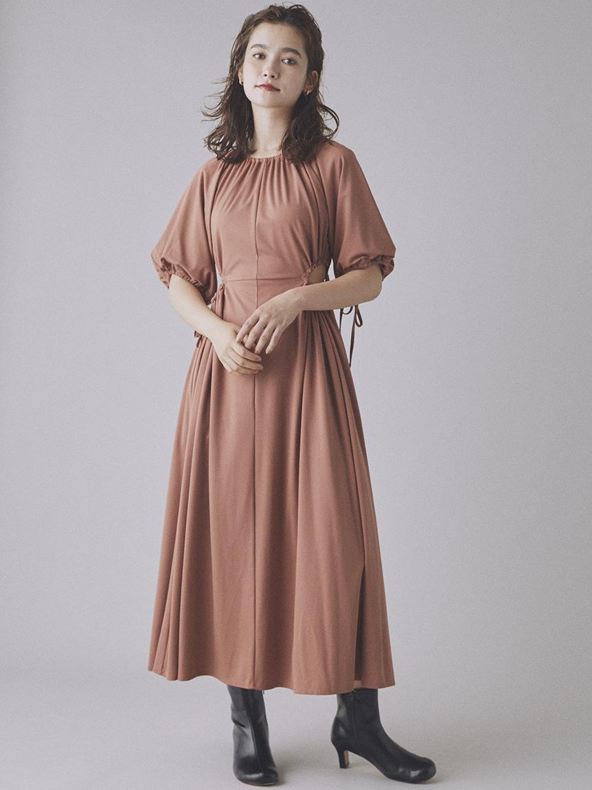 露腰縮口連身裙