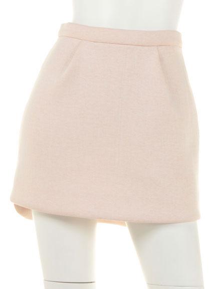 純色不對襯短裙
