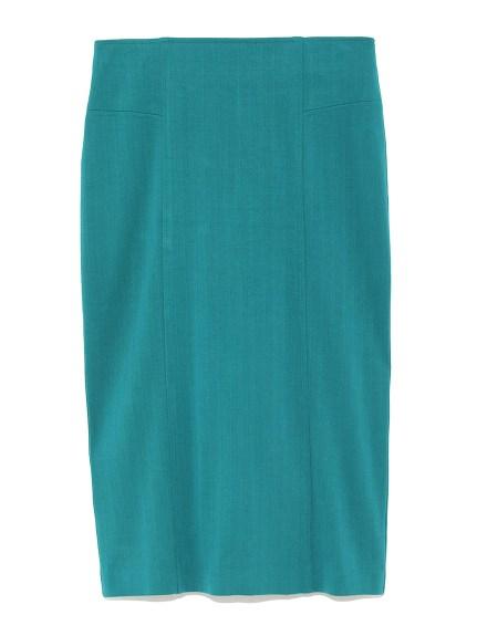 素色造型窄裙