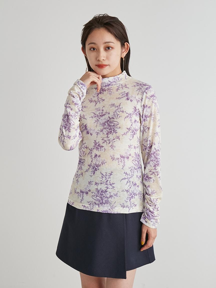 花朵立領上衣