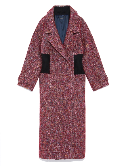 腰間螺紋羊毛大衣
