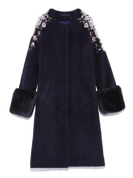 [L.B CANDY STOCK]刺繡寶石裝飾大衣
