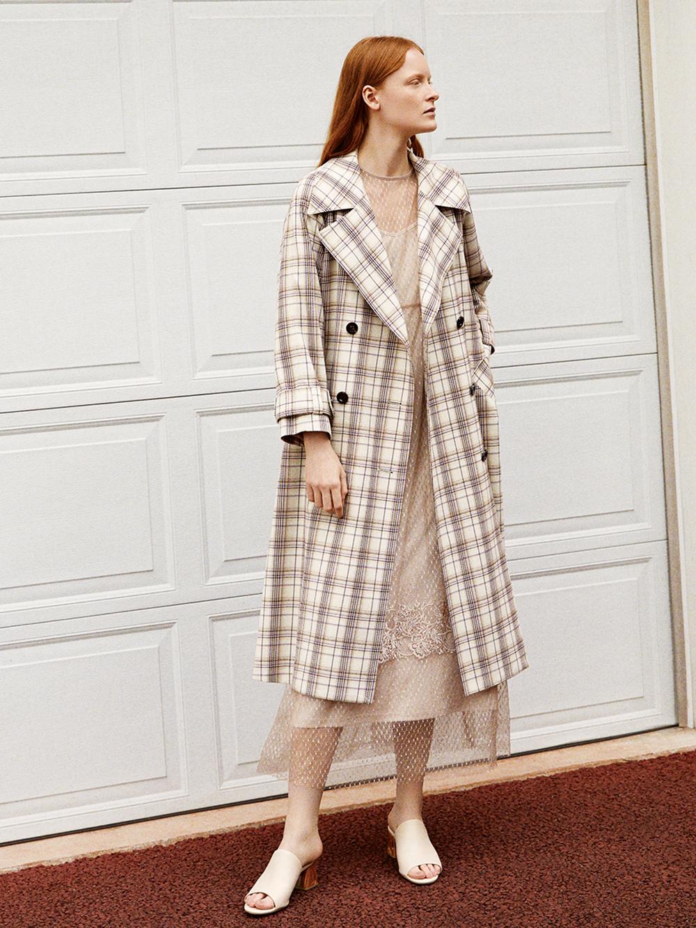 洋裝式風衣外套
