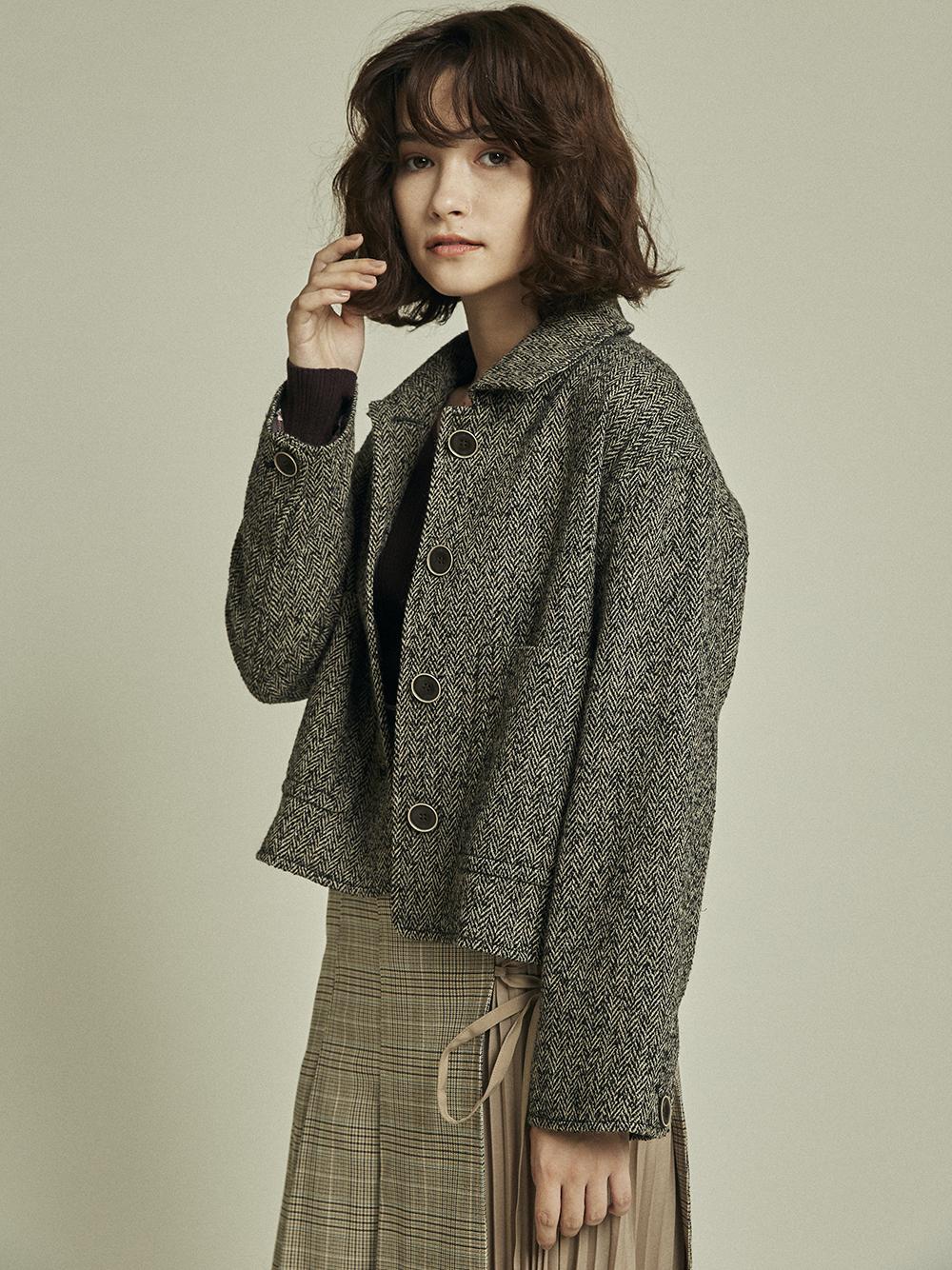 短版羊毛夾克