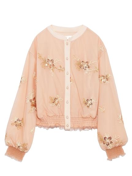 花卉刺繡滾邊布勞森外套