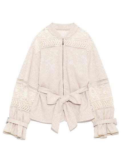 蕾絲綁帶造型布勞森外套
