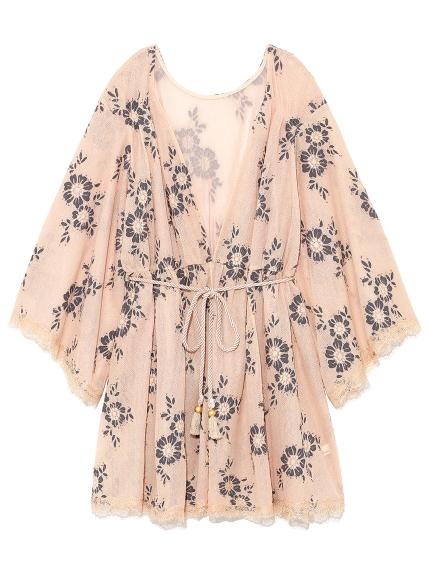 復古蕾絲花朵罩衫